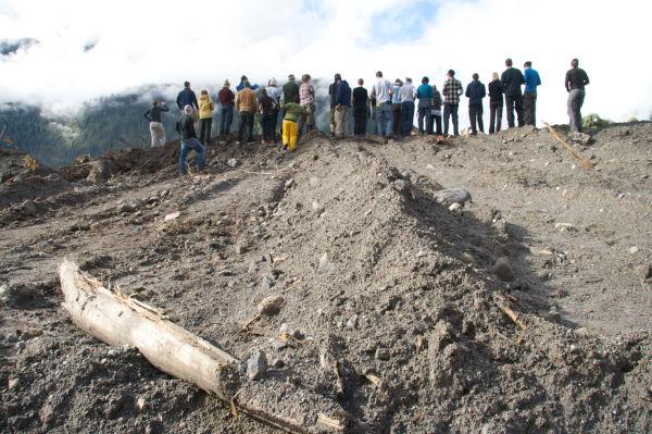 Landslide deposit nr Mt Meagre, Pemberton, BC