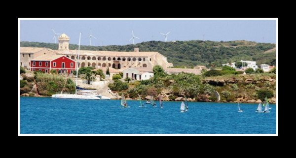 Bloody Island in a Mahon harbour, Balearic Island