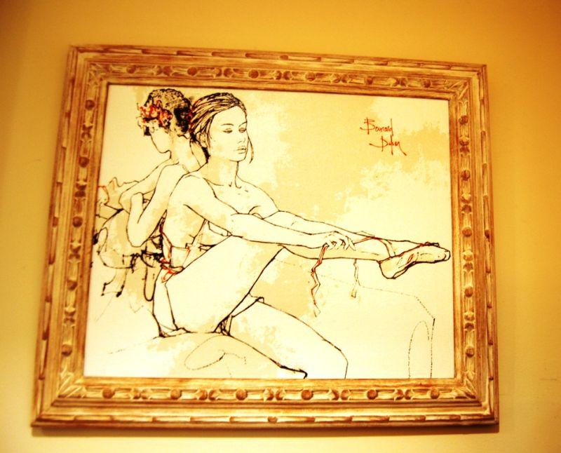 Bailarina no camarim