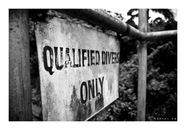 Qualified Divers Only