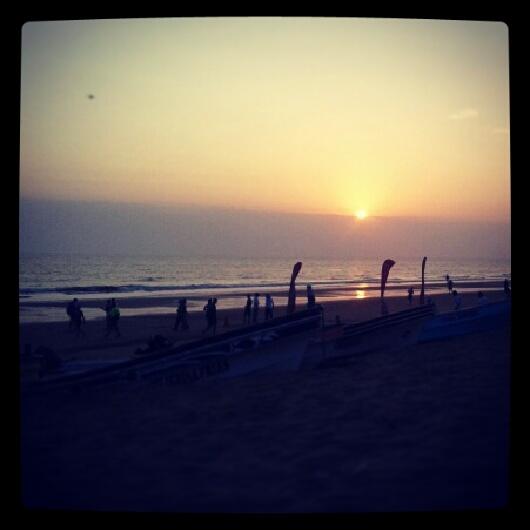 amanecer en el arenal