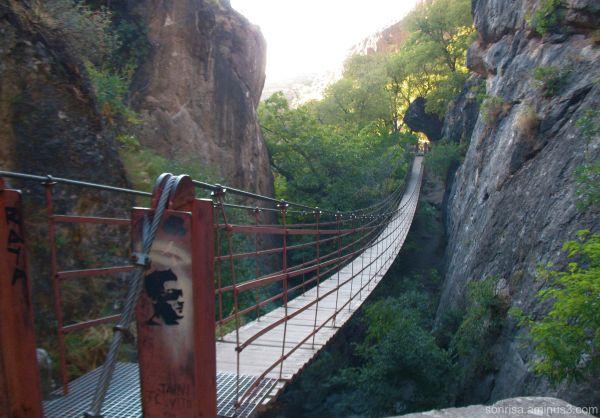 We crossed this bridge.