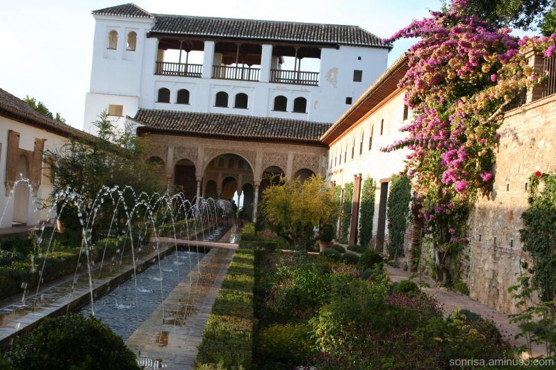 The fountain garden.