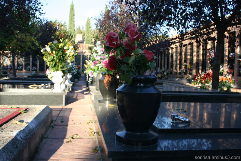 Flowers and festivities at the Cemetary.