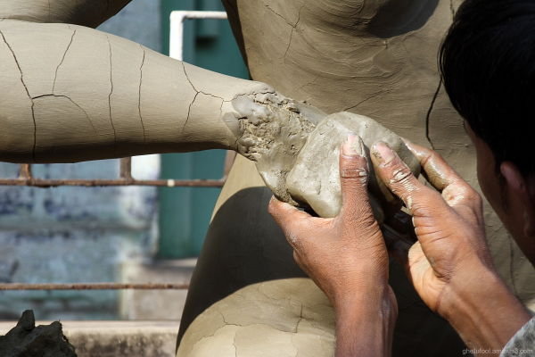 Making of a Goddess -- hands that bless us