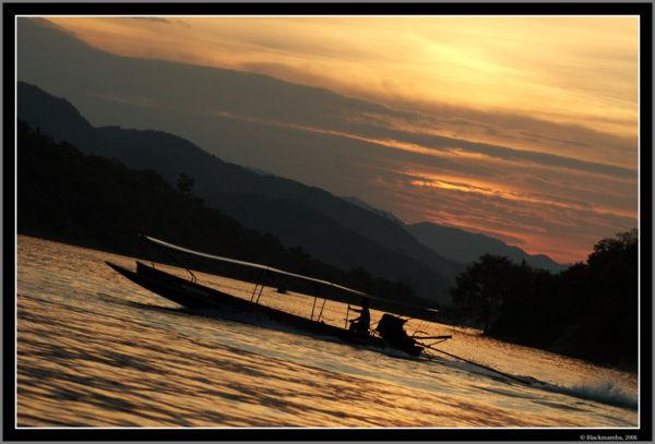 Sunset along Kaeng Krachan