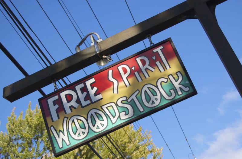 free spirited Woodstock