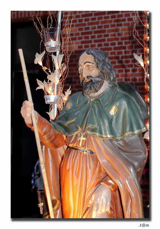 St Rochus Aarschot candles August 15