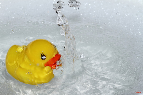 Rubber duck splash
