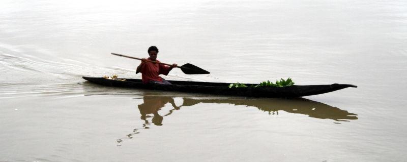 Dugout Canoe Paddler
