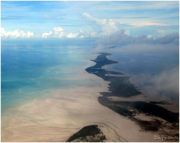 Tarawa  atoll from the air