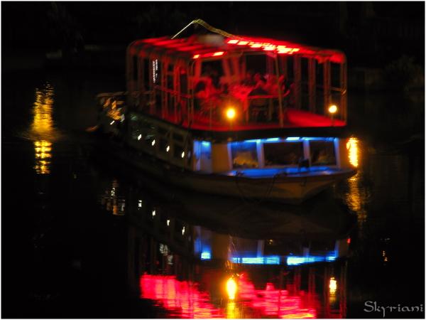 Night boat on the Mtkvari River