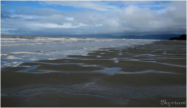 Rabbit Island beach after a storm II