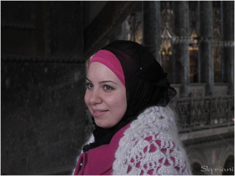 The girl in Hagia Sophia