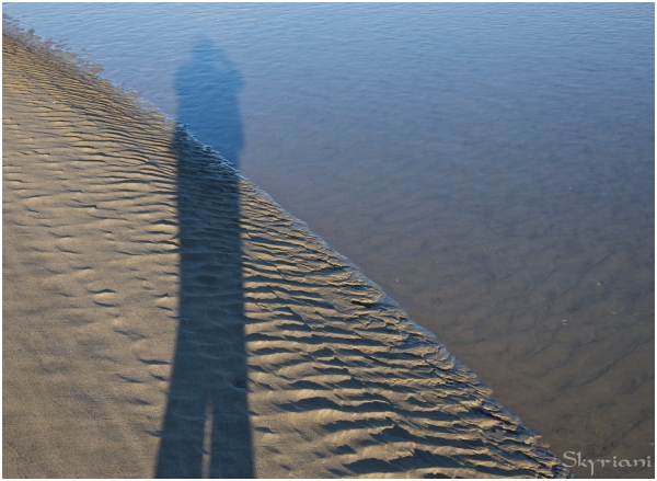 Self-portrait, perigee low tide