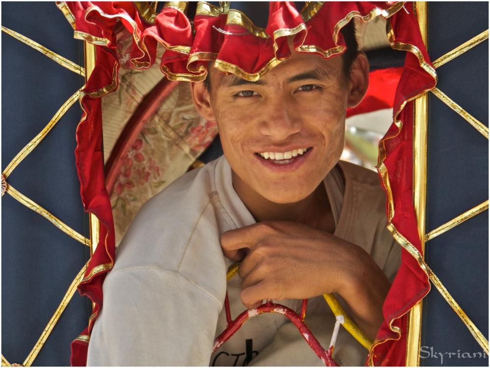 Kathmandu rickshaw driver