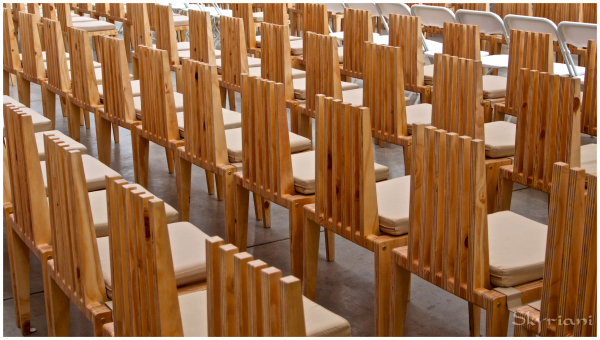 Cardboard Cathedral II: Cathedral Chairs