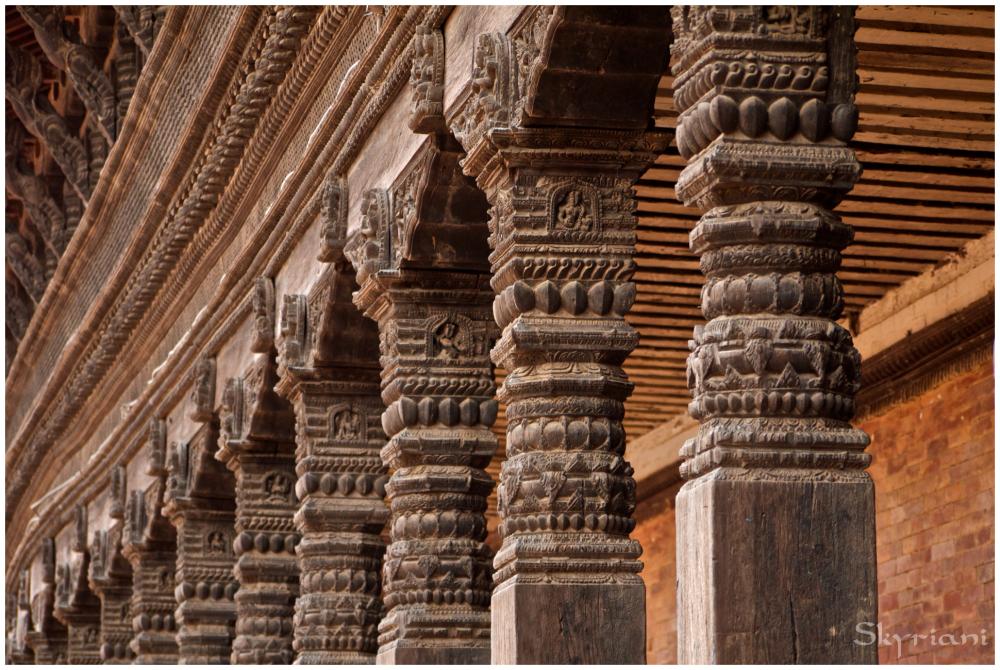 Bhaktapur temple detail