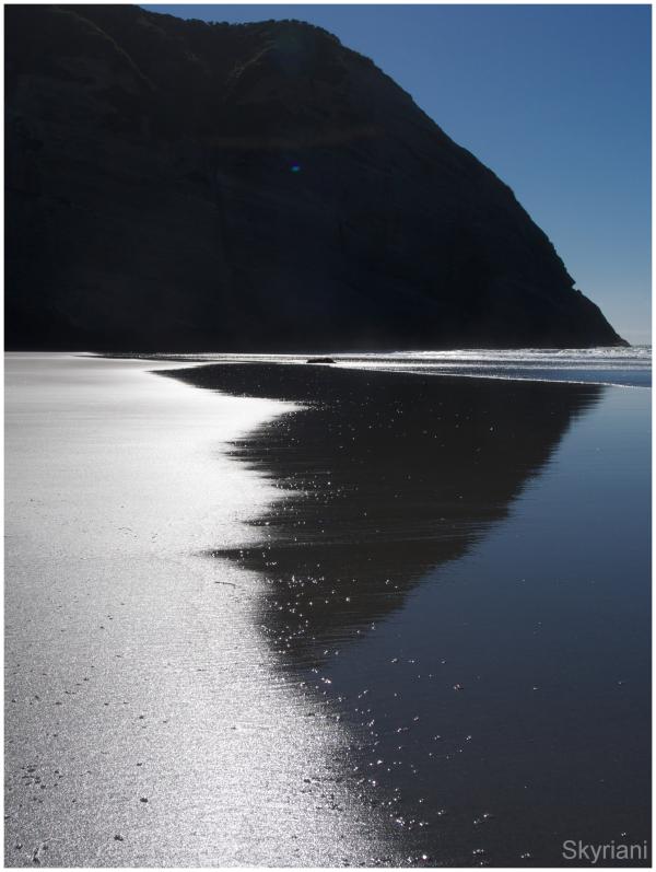 Beach light and shadow