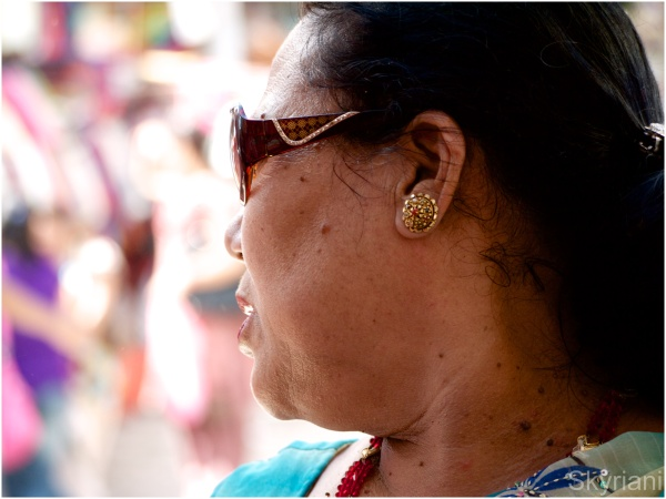 Sunglasses and Earring