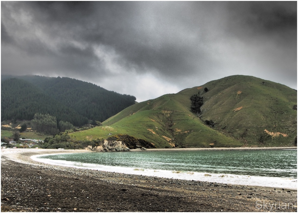 Cable Bay on a winter's day