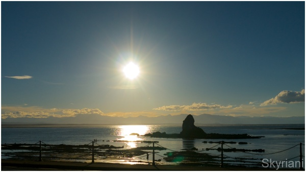 Fifeshire Rock at Sunset