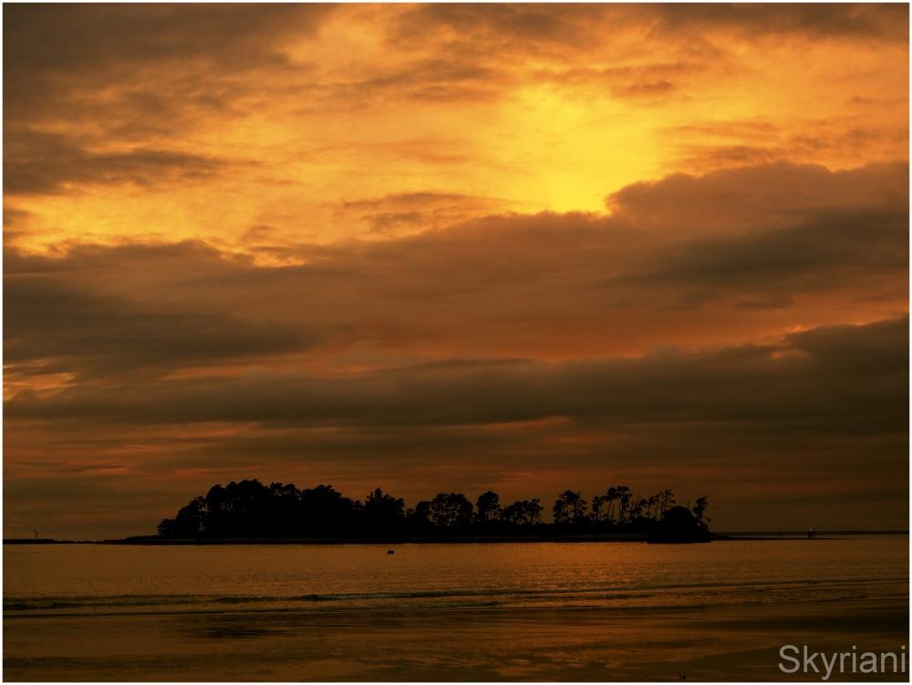 Haulashore Island at Sunset