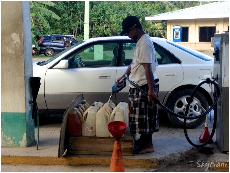 Getting Petrol in Kosrae