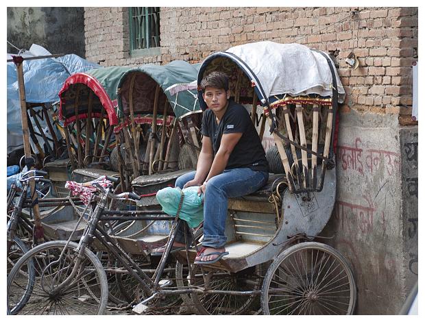 Cycle rickshaw driver