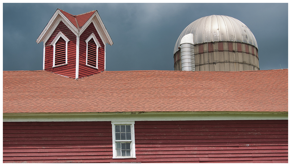 Red roof and silo