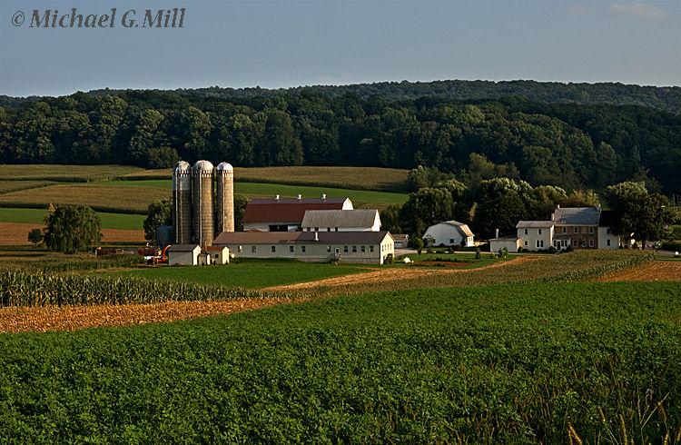 Morning arrives at a Berks County, farm.