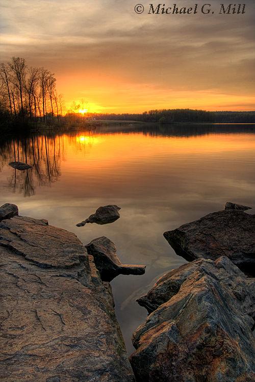 Chambers Lake Sunset