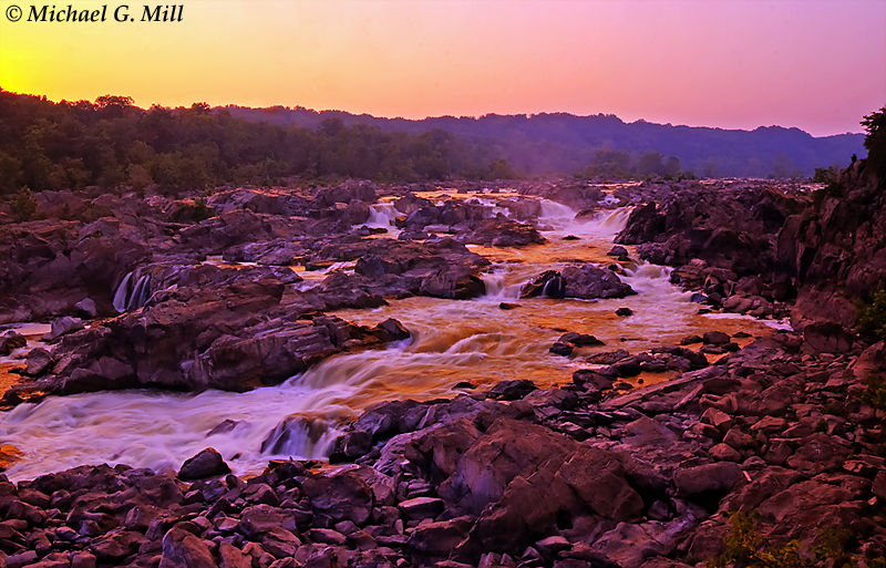 Sunset at Great Falls National Park