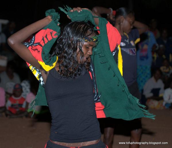 Aboriginal woman dancing