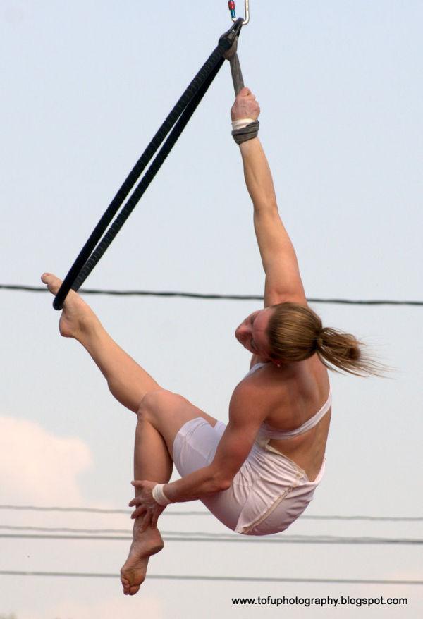 acrobatic woman