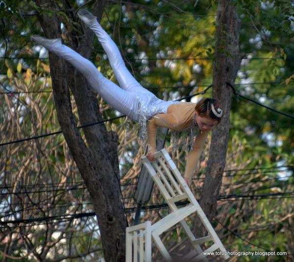 An acrobat in Bangkok