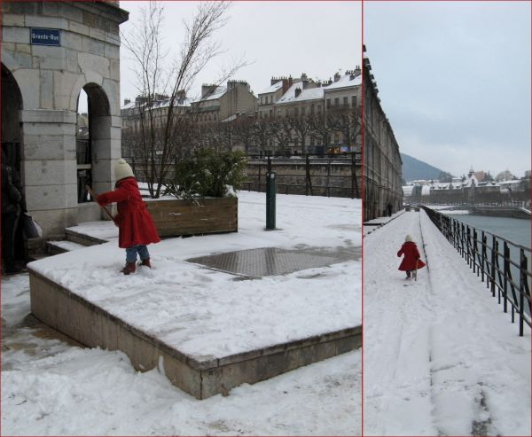 little red riding hood lost in snow