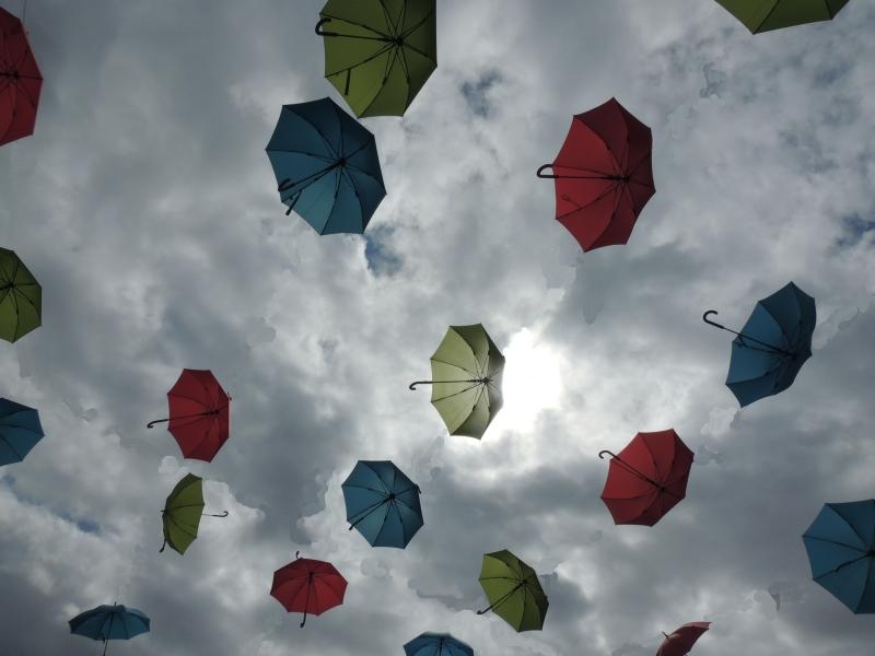 parapluies , umbrellas,Amiens, Art , poetry