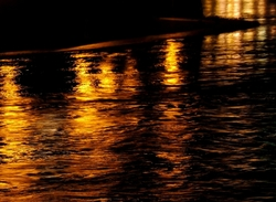 river , reflection, doubs, night