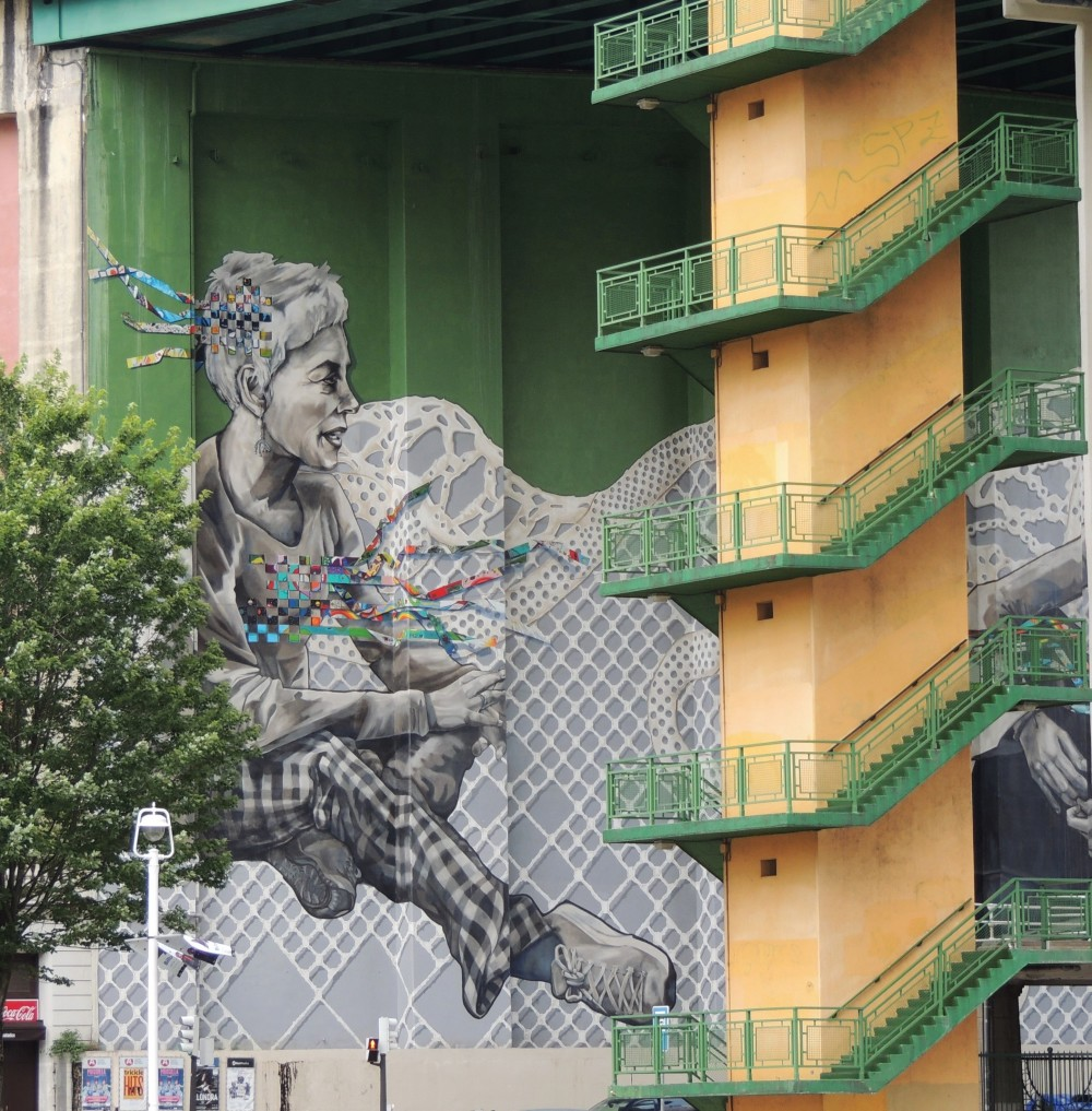 street art , bilbao , spain