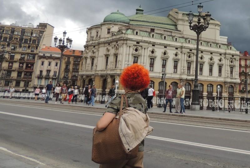 Spain ,Bilbao, passerby