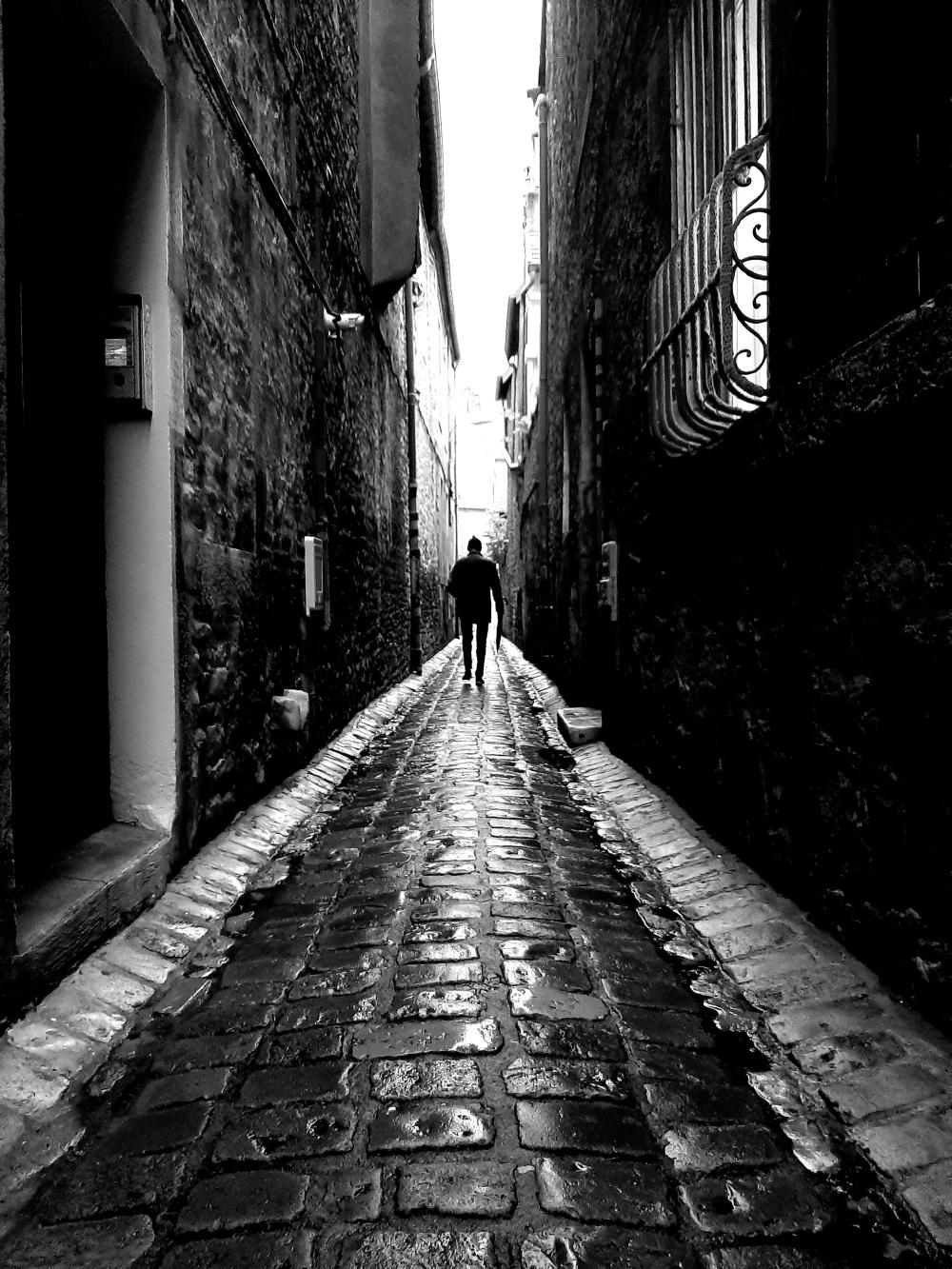 Black and white .street life