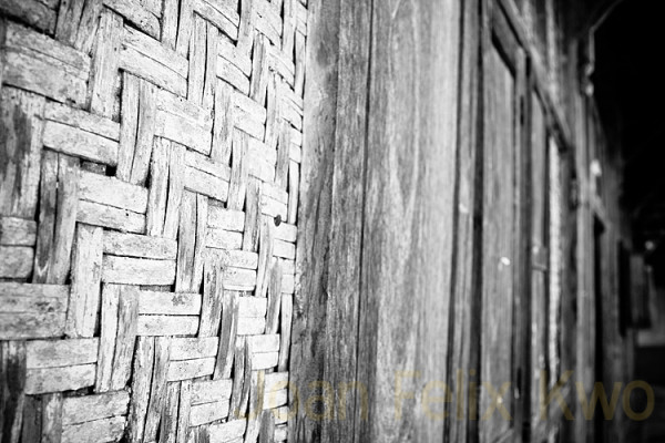 wicker wall at village Indonesia