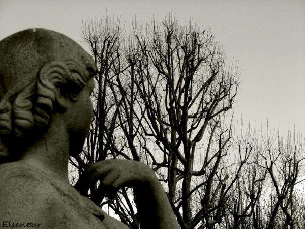 a statue in paris
