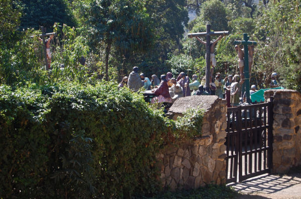 Gathering in the Churchyard