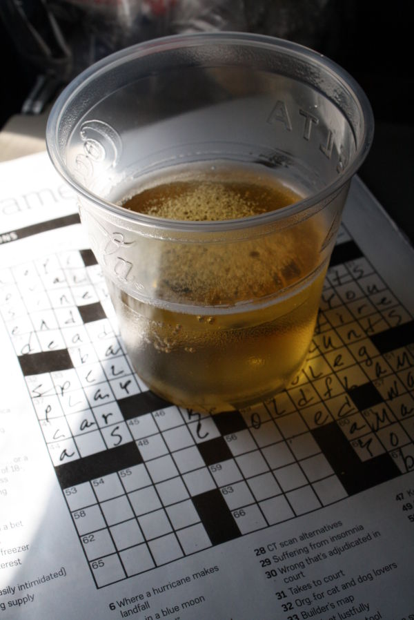 beer and a crossword