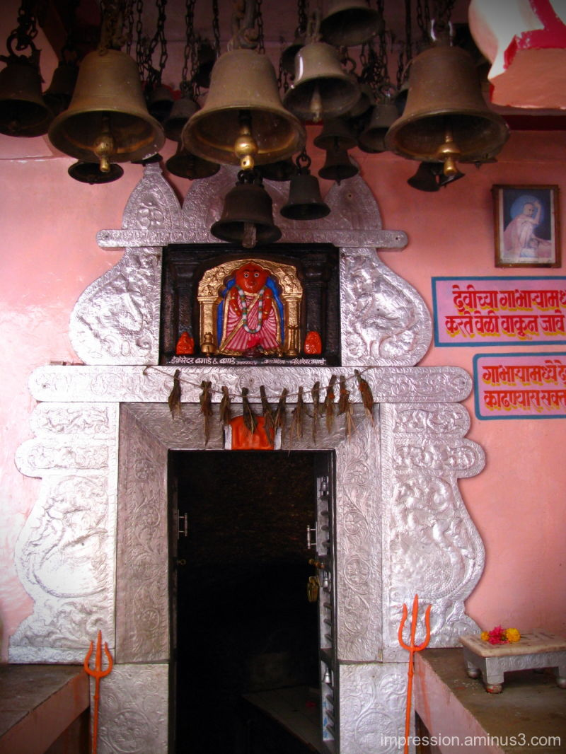 Entry to the cave of Goddess Chandika