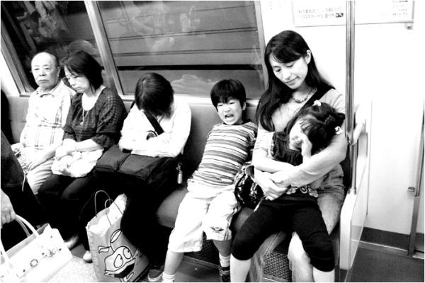 sunday at the tokyo metro