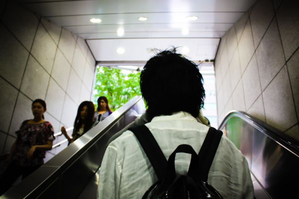 Moving through Tokyo's vast transit system.