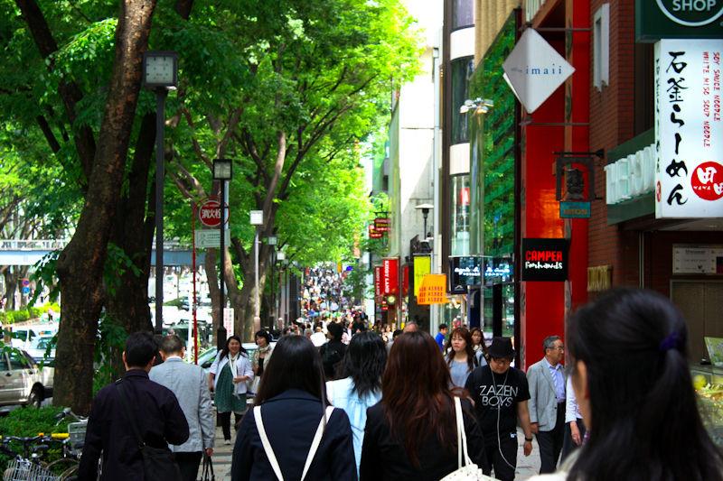 Walking the streets of Harajuku.